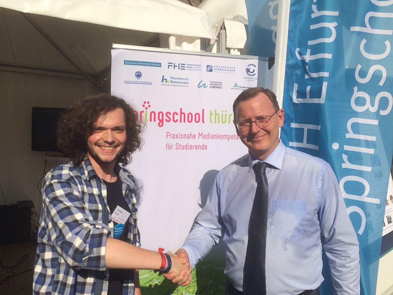 Springschool-Präsentation beim Sommerfest in Berlin